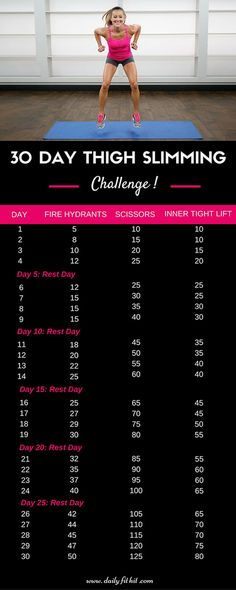 30 Day Thigh Slimming Challenge | Community Post: 30 Day Thigh Slimming Challenge + Free Printable