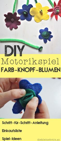 Unsere 5 schönsten Bastel-Ideen Colors and fine motor skills Craft idea for children from 2 years, DIY instructions and tips Diy For Kids, Crafts For Kids, April Preschool, Montessori Materials, Fine Motor, Preschool Activities, Kids And Parenting, Diy And Crafts, Dinosaur Stuffed Animal