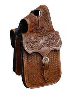 Showman Tooled Horn Bag - #HB-01