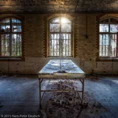 "hpd_fotografy: ""Dissecting Table  If you would have died in that very large abandoned #hospital in Eastern #Germany you might have ended up on this #dissecting_table so the doctors could find out what the hell your problem was.  #Urbex is short for #Urban_Exploration. It is the act of going to and exploring lost and forgotten places that are not visited and often even inaccessible to the general public. Such places include abandoned factories hospitals schools offices and other #derelict…"