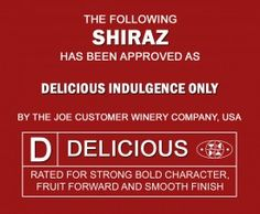This wine label is rated Delicious!