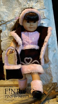 Re-purpose toddler coat into doll clothes for American Girl