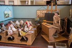 An antique school room from a doll show in Vienna.