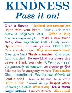 Ideas to pay it forward.