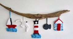 Add a touch of the seaside to your home with this amazing coastal wall hanging by Coastal Crochet.