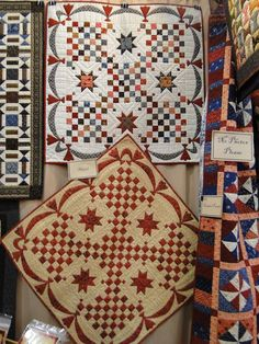 Attending Fall Market in Houston was a wonderful, relaxing experience. Because I didn't have a booth, I was able to spend five days submer. Miniature Quilts, Miniature Crafts, Scrappy Quilts, Mini Quilts, 16 Patch Quilt, Quilt Display, Two Color Quilts, Red And White Quilts, Charm Quilt