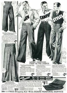 1920s college clothes.