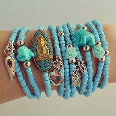 Check out this item in my Etsy shop https://www.etsy.com/pt/listing/504145099/hamsa-bracelet-buddha-elephant-baby-blue