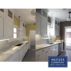 Here is a fun pair of photos that allow you to see the transformation from from rendering to the final outcome.  @pental @sherwinwilliams @kitchenaid @archicad @graphisoft #beforeandafter #nowandthen #archicad #rendering #designbuild #interior #interiordesign #interiors #pdxcontractor #pdxdesign #pdxremodel #portlandcontractor #remodel #remodeledkitchen Construction Services, New Construction, Kitchenaid, Building Design, Kitchen Cabinets, Interiors, Interior Design, Fun, Photos