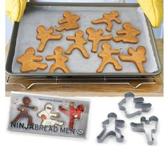 ninja-cookie-cutters for the geek, MMA or traditional martial arts enthusiast in your home.  #WANT