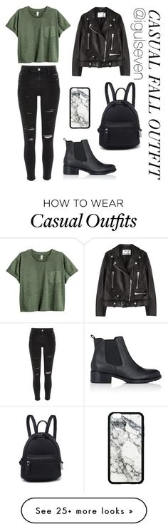 """Casual Fall Outfit"" by igulseven on Polyvore featuring River Island, Barneys New York and Acne Studios"