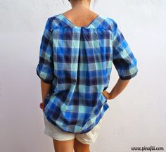 Upcycle a men's shirt...I've been looking for ideas for winter upcycles.  I have several long sleeved men's button up shirts.
