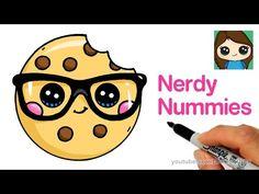 How to draw a cookie cute and easy - nerdy nummies kolay çizimler, gerçekçi Easy Drawings Sketches, Cartoon Drawings Of Animals, Drawing Cartoon Characters, Easy Drawings For Kids, Cartoon Girl Drawing, Realistic Drawings, Kawaii Drawings, Doodle Drawings, Cute Drawings