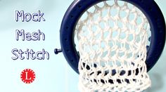 How to loom knit the Mesh Stitch . Quick, easy lace stitch of light weight…