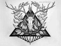 Dotwork tattoo wallpaper