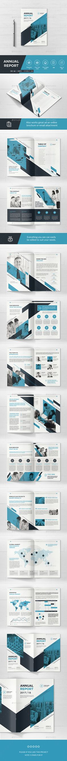Annual Report Template InDesign INDD A4 anf US Letter Size - company annual report sample