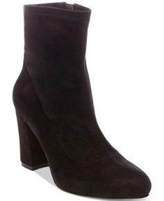 Madden Girl Fantaysa Block Heel Booties - Black 7.5M