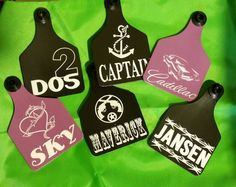 Ear Tags by Design. Ear tags and key chains. Www.eartagsbydesign.com