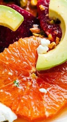 Roasted Beet, Avocado, and Citrus Salad with a Citrus Vinaigrette Beet Salad, Salad Bar, Soup And Salad, Salad Dressing Recipes, Salad Recipes, Healthy Recipes, Healthy Tips, Citrus Vinaigrette, Savory Salads