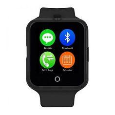 Ceas Smartwatch cu Telefon  V8+, LCD 1.22 inch, Touchscreen Capacitativ, Bluetooth BT 3.0, 64MB RAM, 128MB ROM, Micro USB, Pedometru, Monitorizarea somnului, Carcasa Metal, Notificari aplicatii, Negru