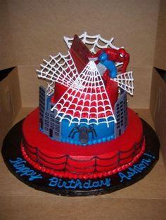 Spiderman Cake  on Cake Central