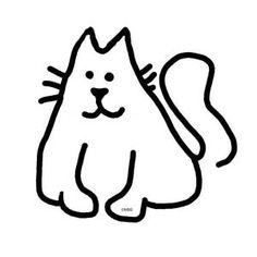 Free Stencils Collection: Cat Stencils: Free Cat Stencils Collection: Fat Cat 1