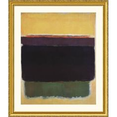 Great American Picture Untitled, 1949 Gold Framed Print - Mark Rothko - 18132-Gold