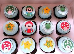 Mario and his friends cupcakes