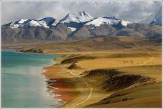 Manasarovar Lake-shore, Tibet by Kay Berry