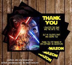 Star Wars - The Force Awakens - Kylo Ren - Birthday Party Ticket Invitation Printable