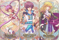 Tales of Graces Sophie Asbel Richard Fantasy Series, Final Fantasy, Tales Of Graces, Tales Series, Story Arc, Kingdom Hearts, Otaku, Video Game, Pokemon