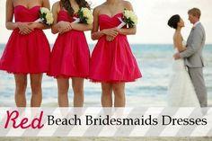 Beach Wedding Bridesmaid Dresses Coral my dream wedding July Wedding, Before Wedding, Red Wedding, Wedding Bells, Perfect Wedding, Wedding Shot, Wedding Parties, Spring Wedding, Wedding Colors