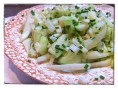 Cucumber, Fennel, Parmesan Salad/ momskitchenhandbook