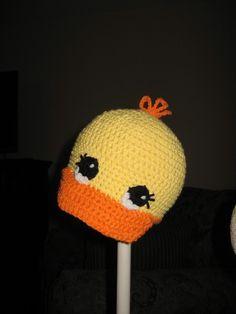 CROCHET PATTERN Duck Cap 3 Sizes Included by speckledfrogcrochet