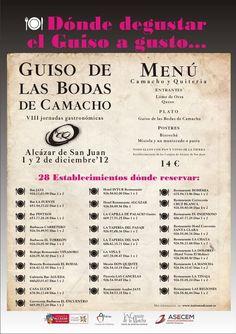 Guiso de Bodas de Camacho y Quiteria #quijote http://quixotewines.com/noticias/viii-jornadas-del-guiso-de-bodas-en-alcazar-de-san-juan