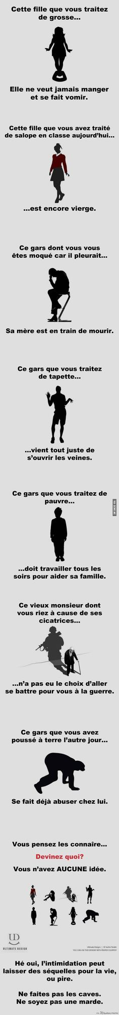 C'est vrai, stop au violence. Quote Citation, French Quotes, Bad Mood, Positive Attitude, Proverbs, True Stories, Quotations, Affirmations, Sad