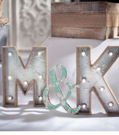 Lighted Marquee Letters | #DIY Wedding Idea from Joann.com | Supplies available at Jo-Ann Fabric and Craft Stores | #craftyeverafter