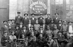 """#Bolshevik Revolution, 1917: The Red Guard of the Vulkan engineering factory pose for the photographer with pistols, rifles and a machine gun. Such """"self defense units"""" were quickly organized by revolutionary committees all throughout Russia's industry to stop an attempt by loyal troops to take over the factories -- an attempt that never materialized."""