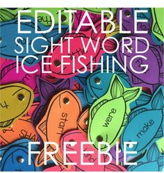 Editable and Differentited Sight Word FREEBIE. Your students are going to love fishing for sight words this way and you'll see how easy it is to organize for differentiating.