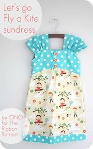 Free, easy to follow tutorial on how to make this adorable sundress for a little girl! #OperationChristmasChild