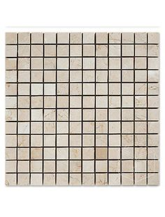 Botticcino 1x2 Basketweave with Milas White Dots Mesh-Mounted Mosaic Tile #botticcino_marble_tile #milas_white_mosaic_tile Glass Mosaic Tiles, Basket Weaving, Marble, Dots, Mesh, Pattern, Stitches, Patterns, Granite