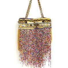 Elliot Mann : Elliot Mann, Tasche, WOW Bag Nylon, gold multicolor Boho Bags, Nylon Bag, Bohemian Style, Mood, Handbags, En Vogue, Dime Bags, Totes, Purses
