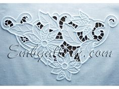 """6.41 x 10.7  and 40,383 sts                      """"Cutwork Lace Corner"""" 