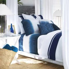 Ralph Lauren dip dye/ tie dye sheets, pillow covers, etc.