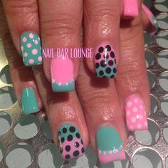 Poppin Dots #nailart #naildesign #nails