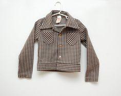 Vintage brown checked jacket