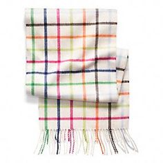 Cashmere Classic Legacy Tattersall Scarf - This one is my favorite but oh my they have one that matches my bag!