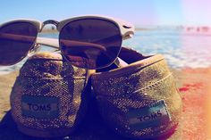 Shoe's and sunglasses off laying out at the beach - the ultimate dream
