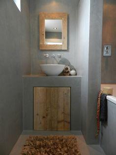 cemento alisado en toilette