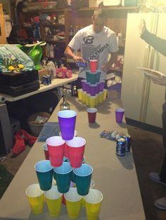 pyramid beer pong